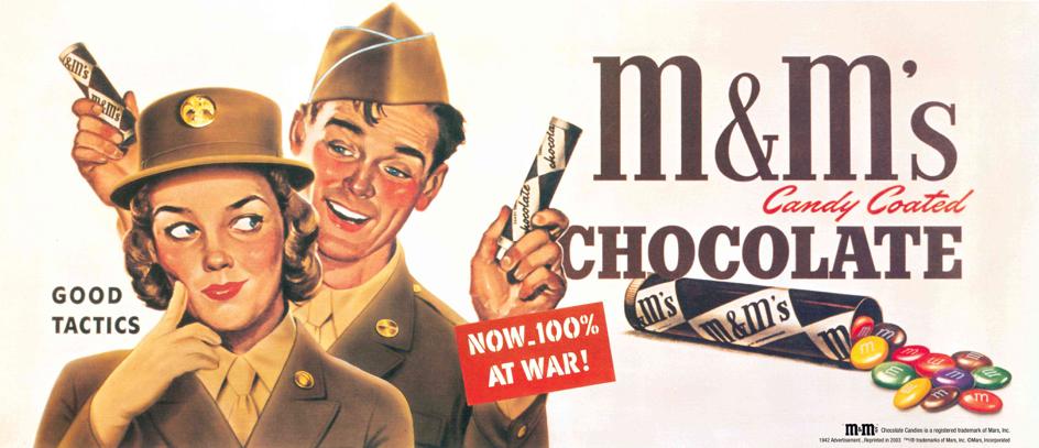 Publicité pour les M&M's